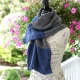 Loom Knit Wrap Pattern With Cable Edge, Sophisticated Wrap That Can Be Used as C