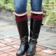 Loom Knit Buffalo Plaid Hat & Boot Toppers Pattern Set. Extra Warm Winter Loom K