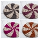 Loom Knit Rug PATTERN. Starlight, Peppermint, Pinwheel Color Design. 3 sizes, La