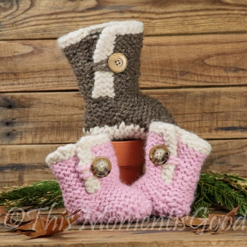 LOOM KNIT BABY BOOTS PATTERN, Ugg like boot