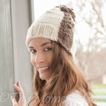 1ab5f89064e LOOM KNIT CABLE HAT PATTERN-EXPRESS CABLE HAT PATTERN