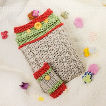 LOOM KNIT IPAD TABLET COVER PATTERN