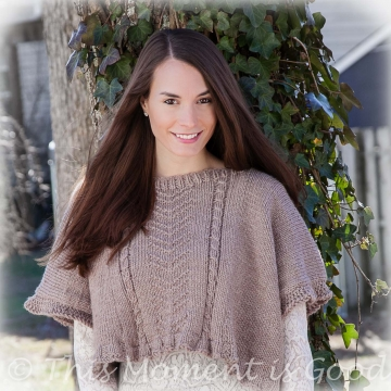 LOOM KNIT PONCHO TOPPER PATTERN