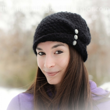LOOM KNIT LADIES FOLDED BRIM HAT PATTERN! LOOM KNIT WINTER HAT PATTERN. AVAILABL