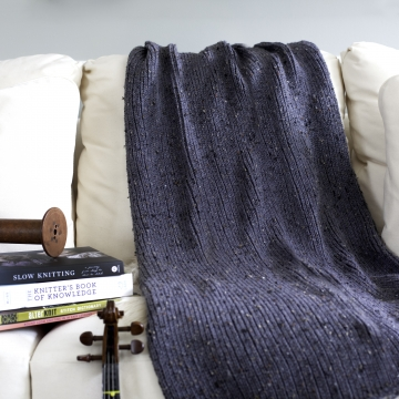 Loom Knit Blanket PDF PATTERN, The Fisherman's Blanket, Modern, Minimalist Style