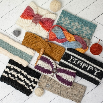Loom Knit Headband/Earwarmer Collection I. (10) Patterns Included for Fair Isle,
