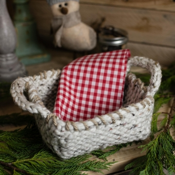 Loom Knit Basket PATTERNS,  Bread Basket, Yarn Basket, Door Knob Basket, Round B