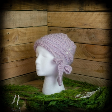 Loom Knit Cloche Hat PATTERN, Side Tie Bow, Vintage, Feminine, Dressy, Hat PDF P
