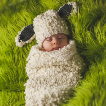 Loom Knit Lamb Cocoon and Hat Pattern Set