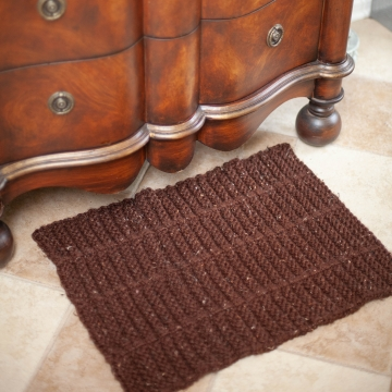 Loom knit rug pattern, area rug, bathmat, doormat, accent rug. PDF