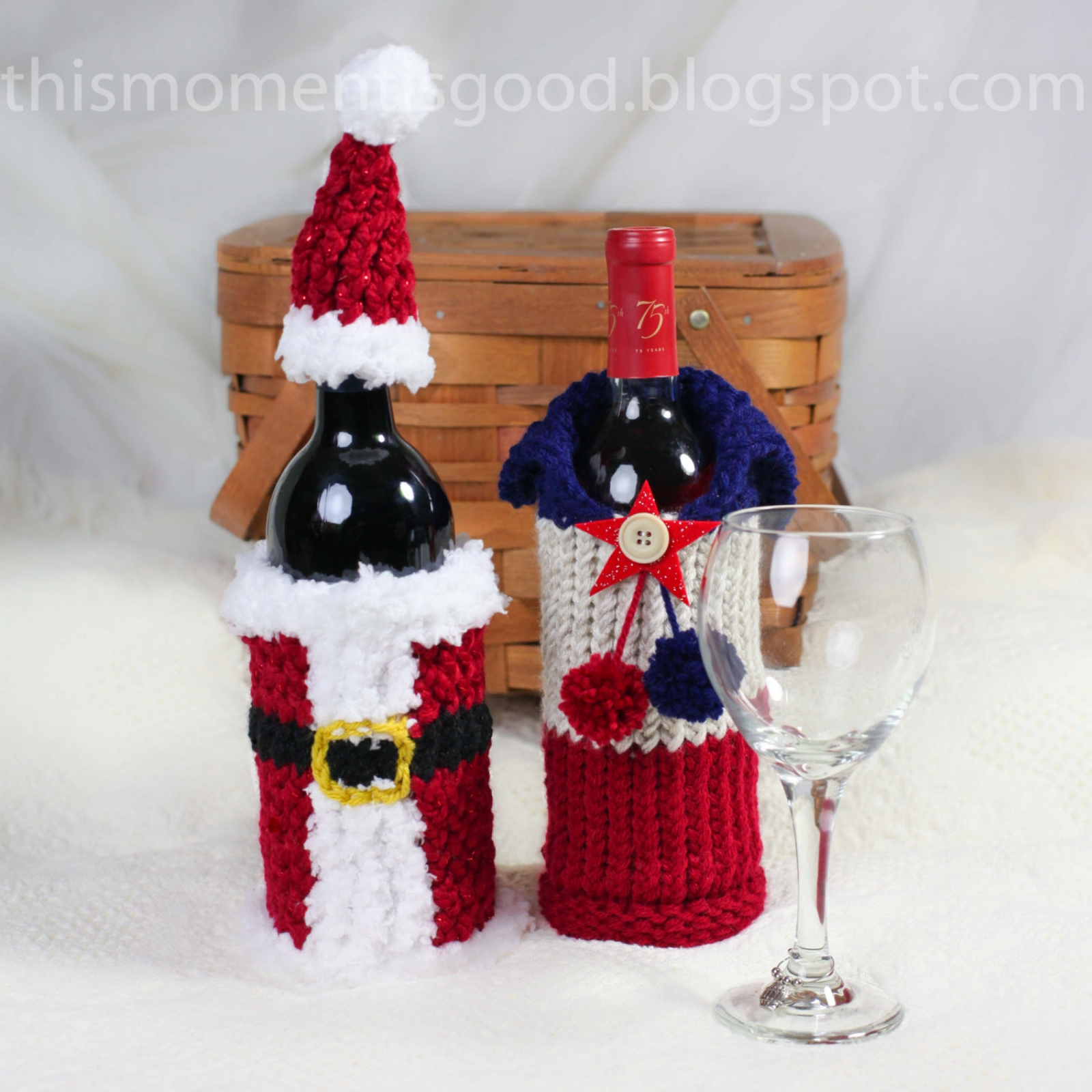 Wine Bottle Covers Loom Knitting Pattern Six Unique
