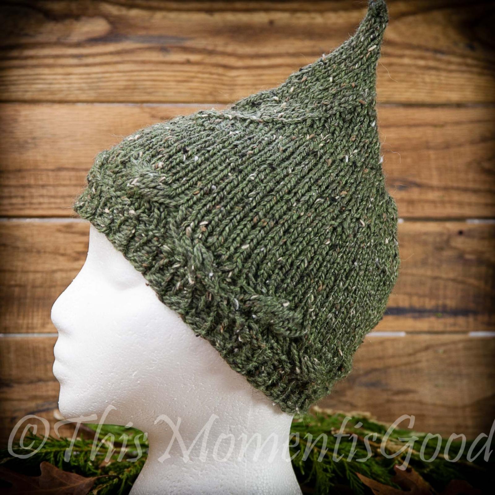 Knitting Pattern For Elf Hat : LOOM KNIT PIXIE HAT PATTERN. LADIES/TEEN PIXIE HAT. ELF ...
