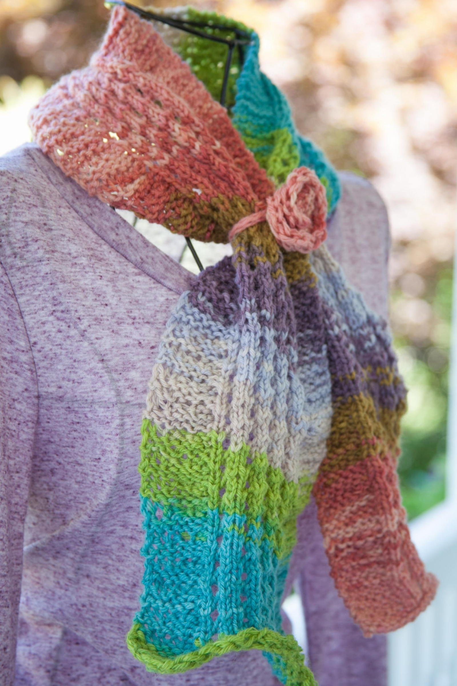 Loom Knit Eyelet & Ripple Scarf Pattern This Moment is Good