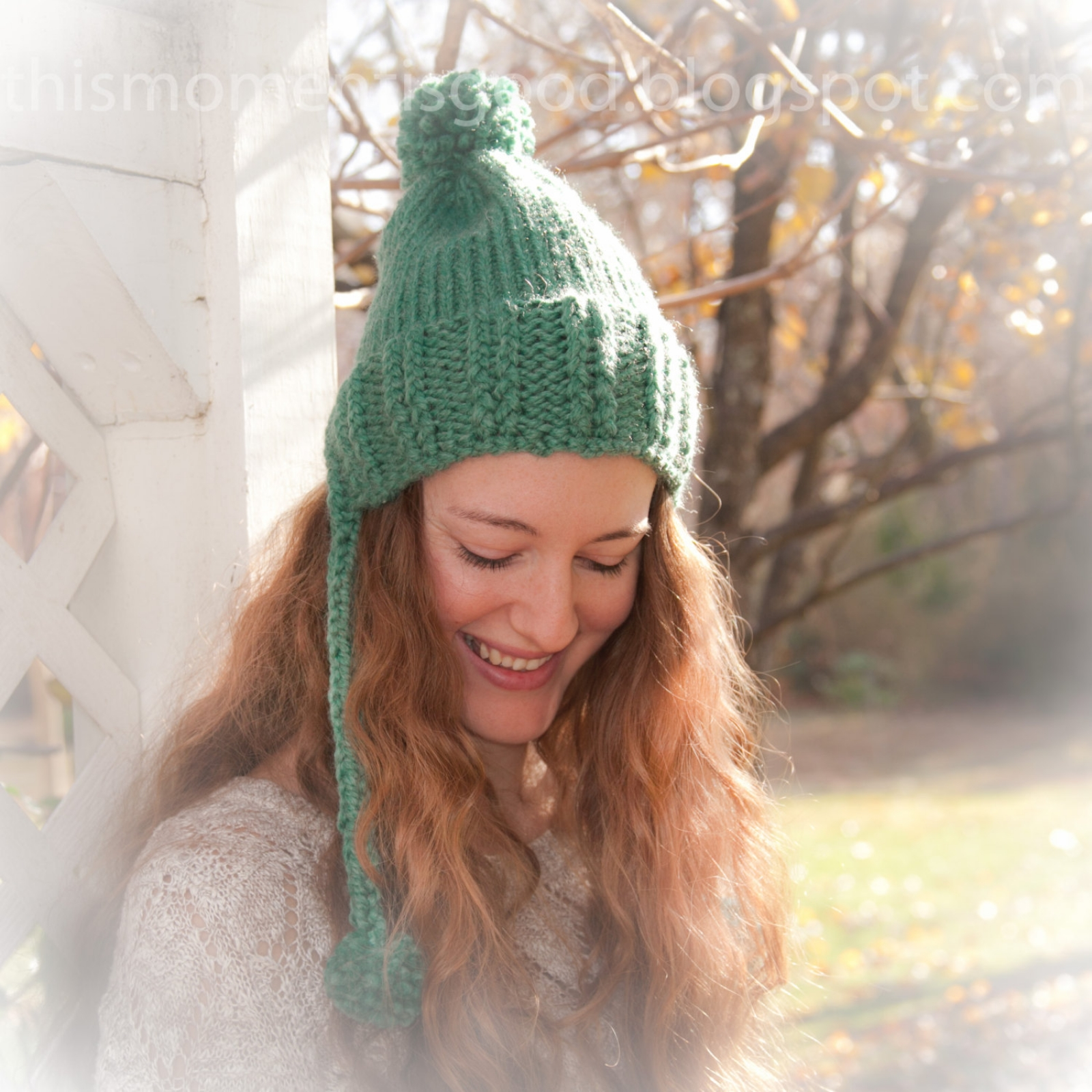 Loom Knit Baby Hat With Ear Flaps : Loom knit earflap split brim hat this moment is good