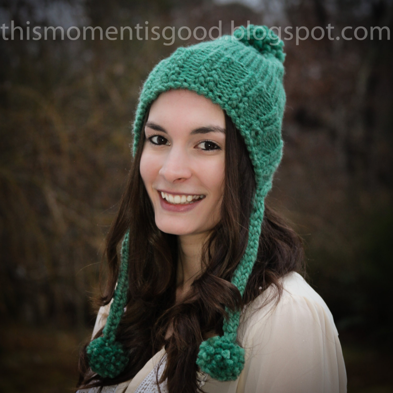 Loom Knit Earflap Split Brim Hat | This Moment is Good