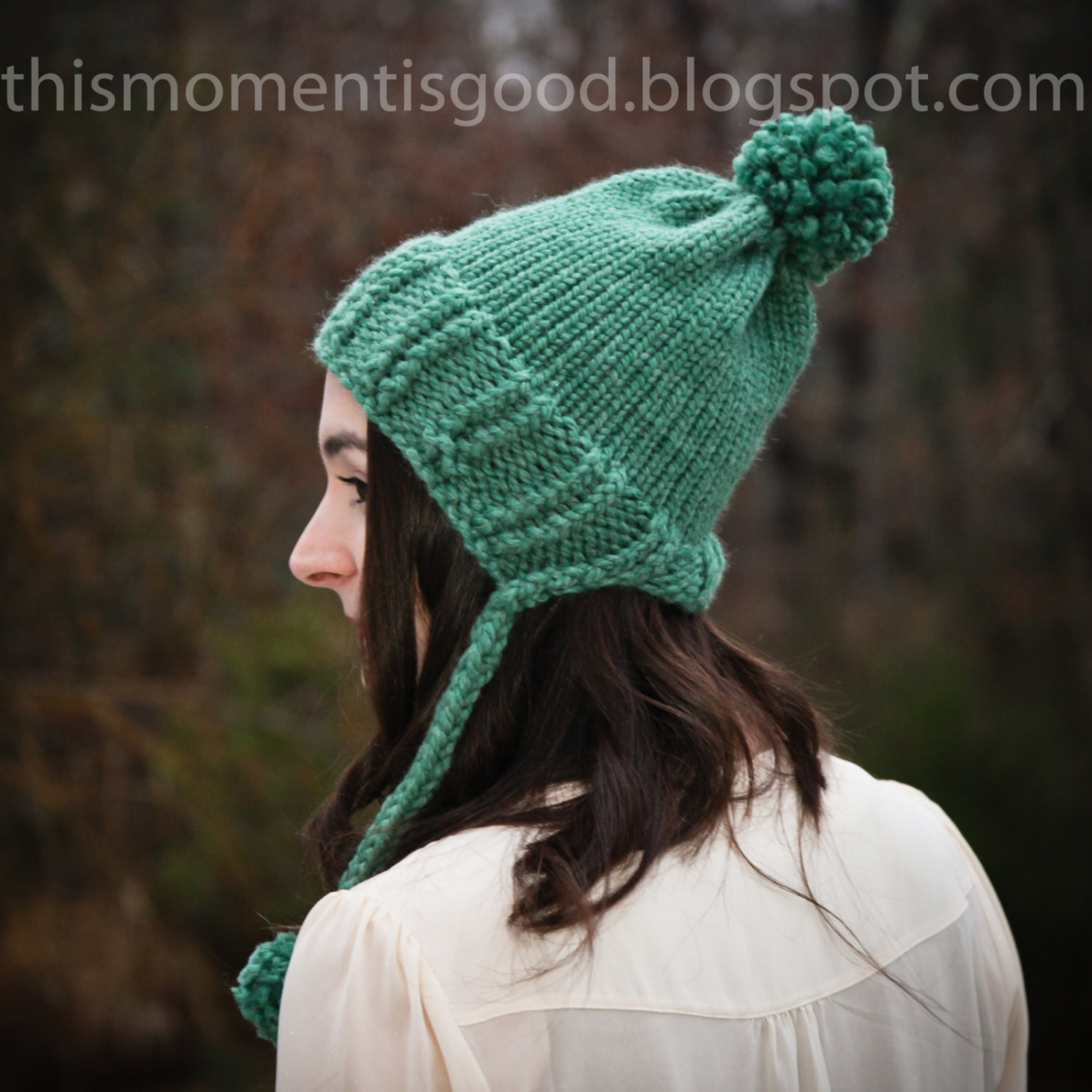 Loom Knit Baby Hat With Brim : Loom knit earflap split brim hat this moment is good