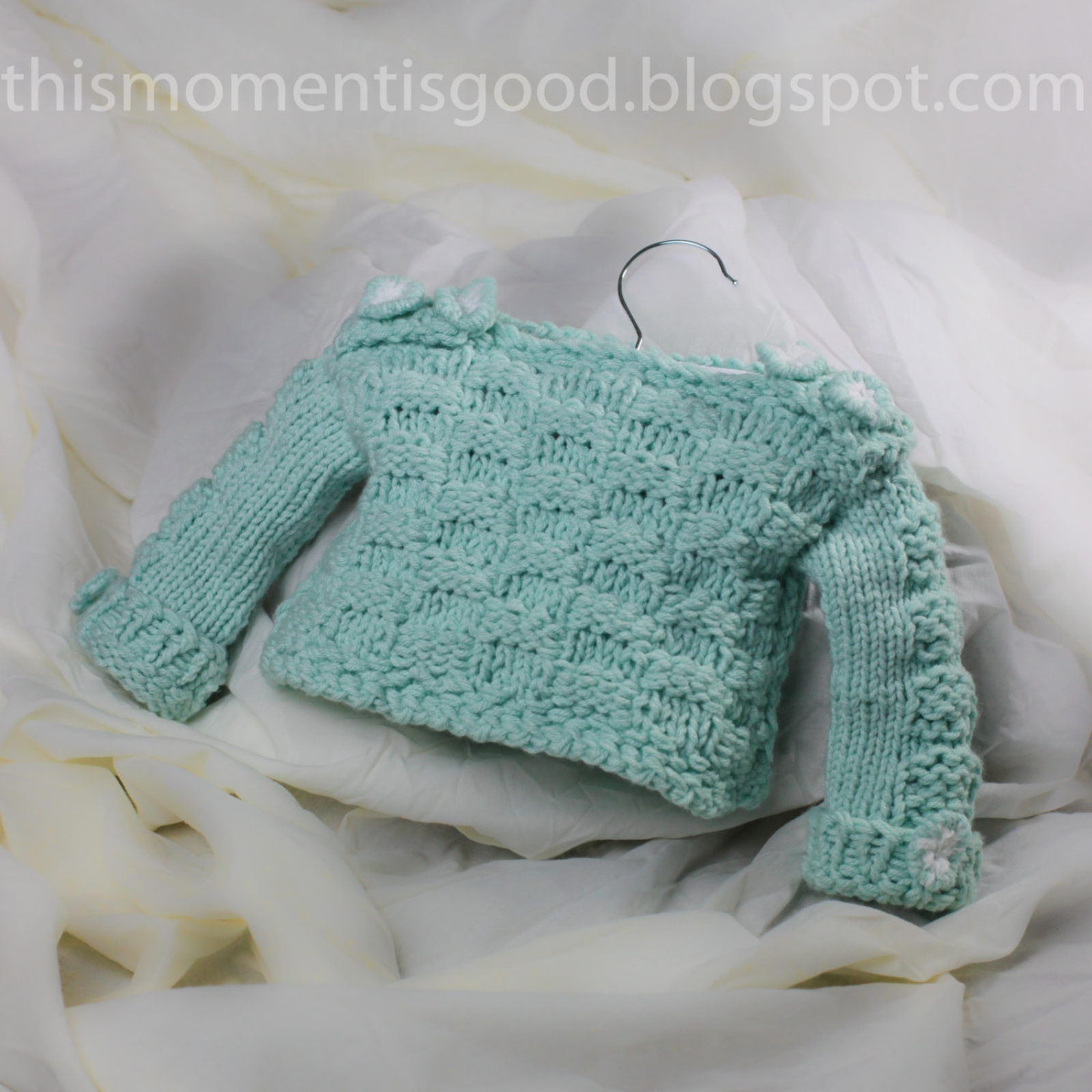 Loom Knit Baby Sweater Pattern: Checkerboard Pattern on Sleeves and ...