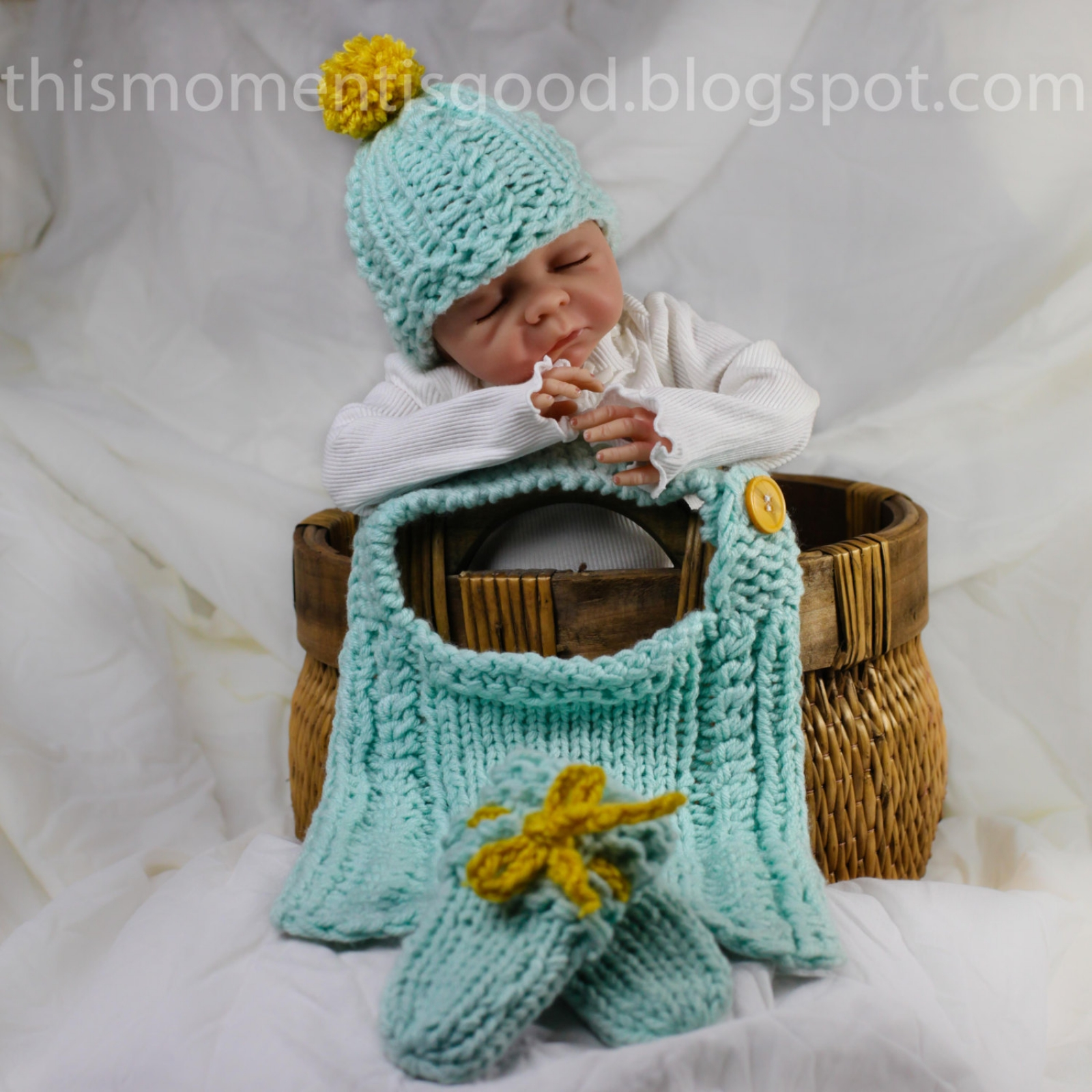 ba45f288012 Loom Knit Baby Layette Set