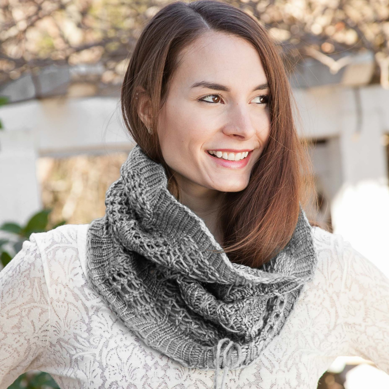 Loom Knit Lace Snood Cowl Pattern This Moment Is Good