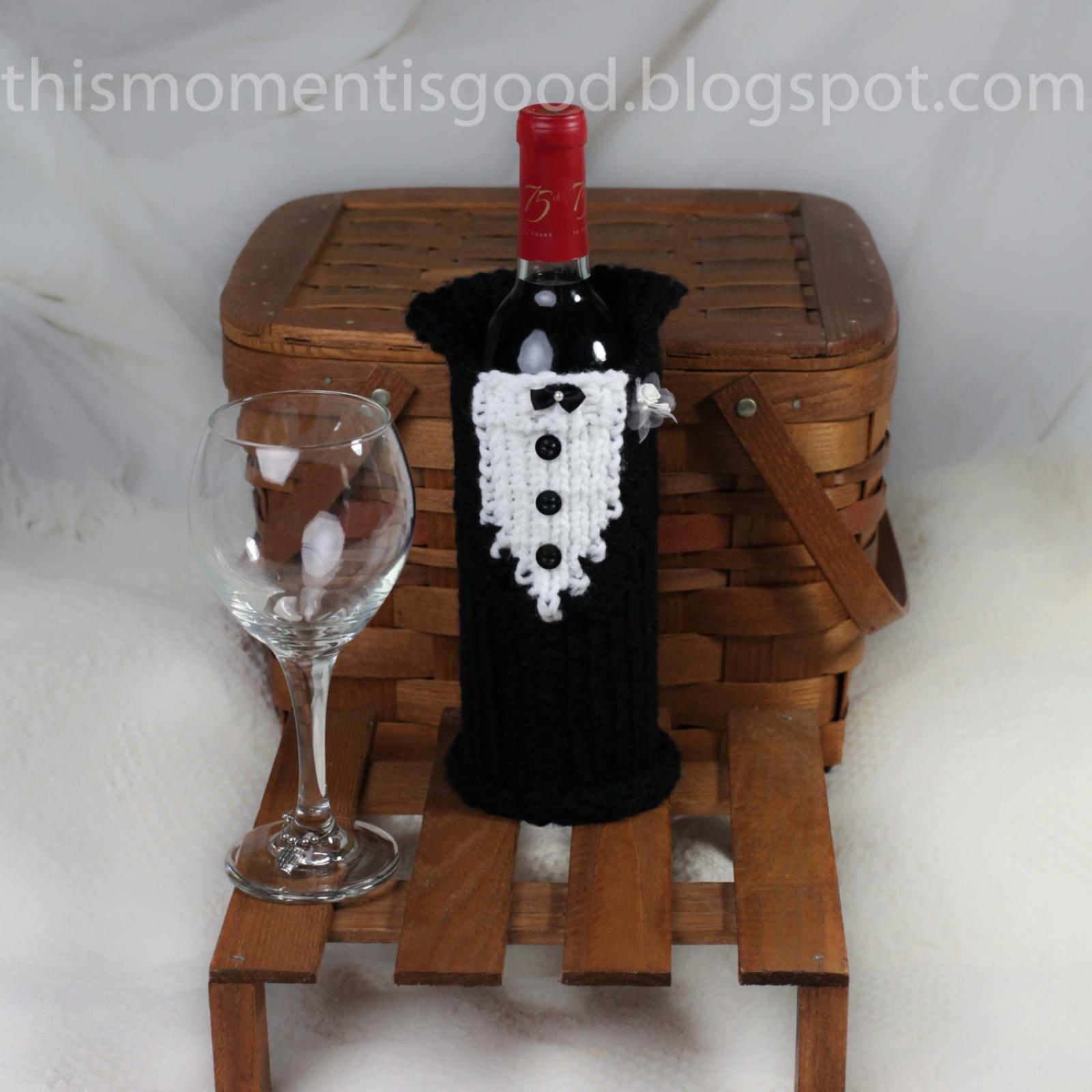 Loom Knit Wine Bottle Cover Pattern Bride & Groom! (2) PATTERNS ...