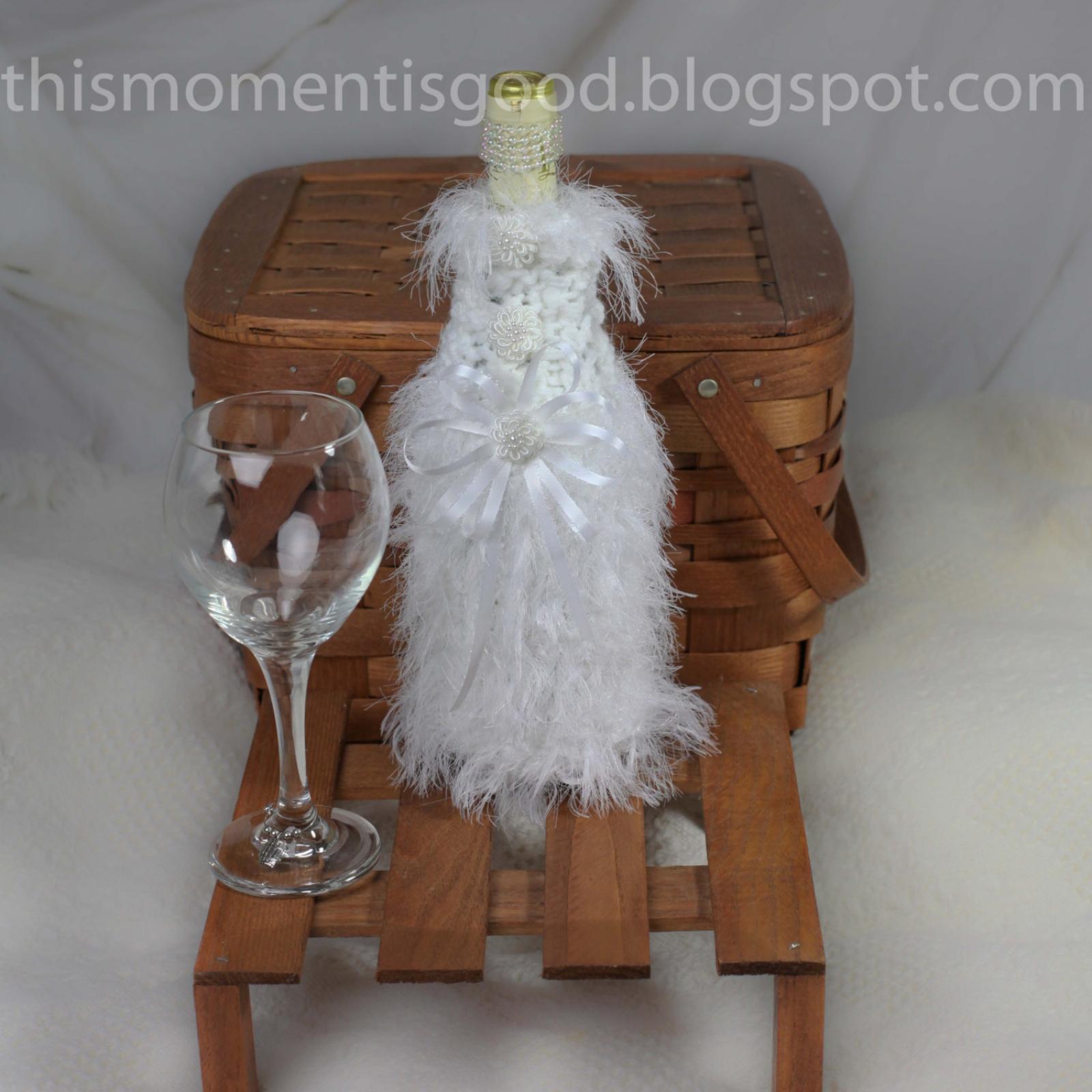 Loom Knit Wine Bottle Cover Pattern Bride Amp Groom 2