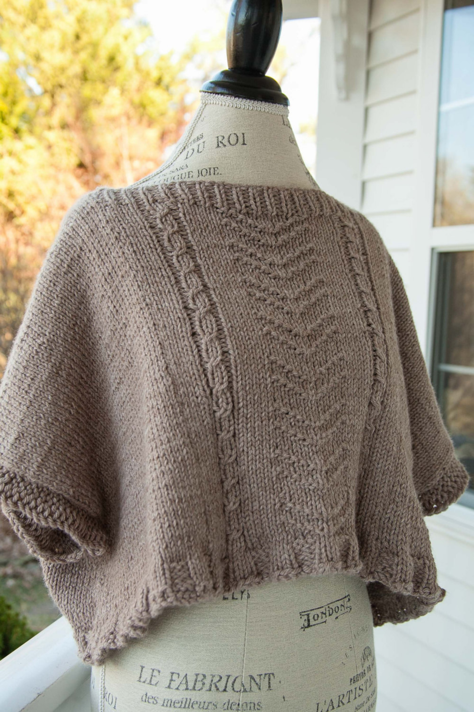 Loom Knit Poncho Pattern | This Moment is Good