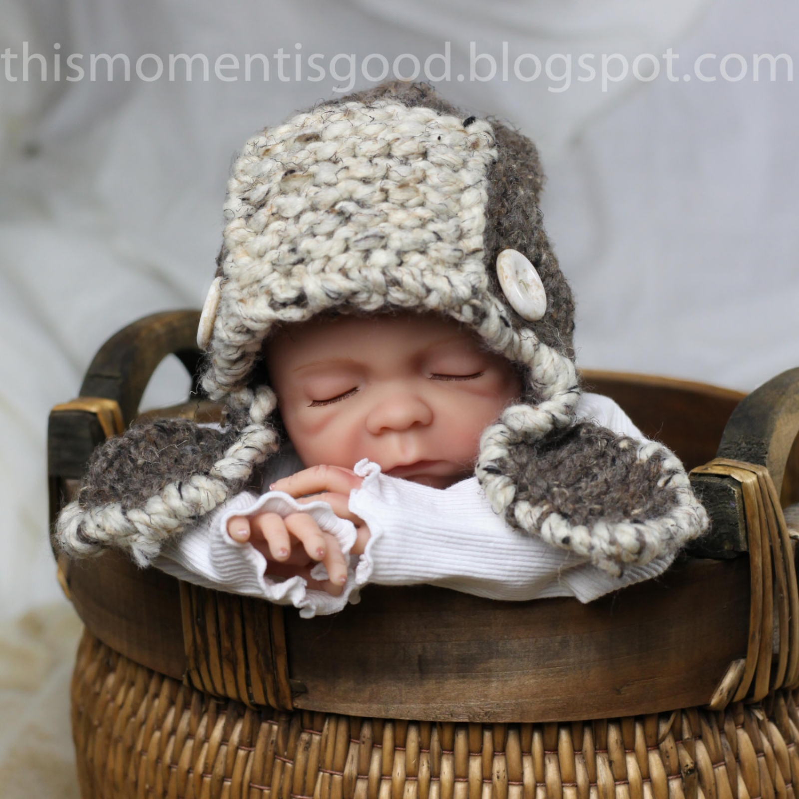 LOOM KNIT AVIATOR HAT FOR BABY PATTERN | This Moment is Good