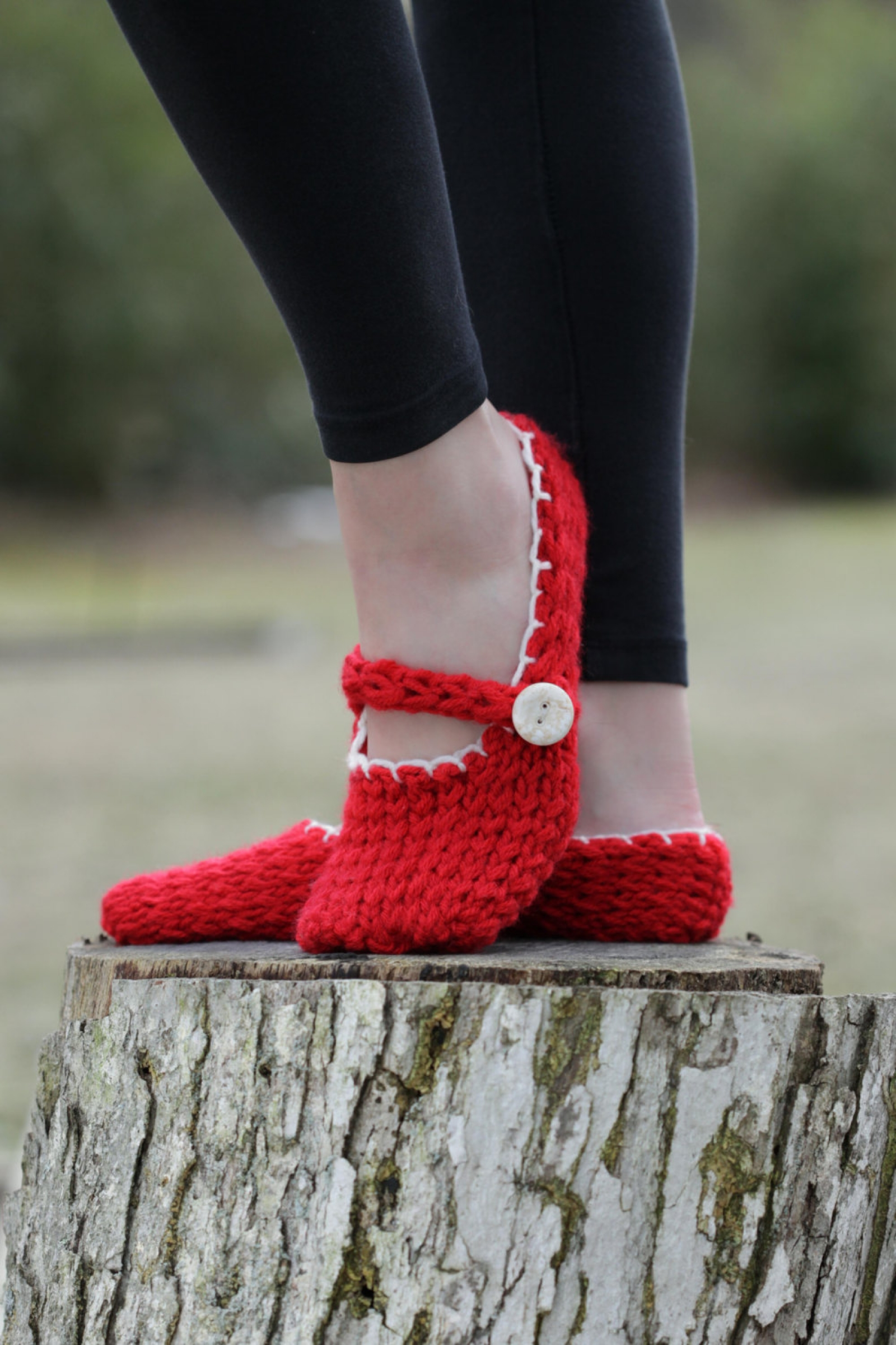 loom knit mary jane style slippers pattern this moment