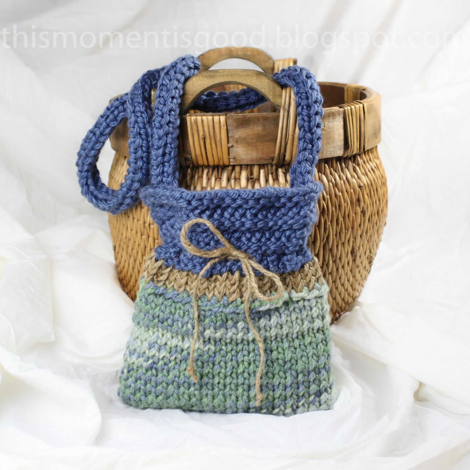 LOOM KNIT HANDBAG PATTERN | This Moment is Good