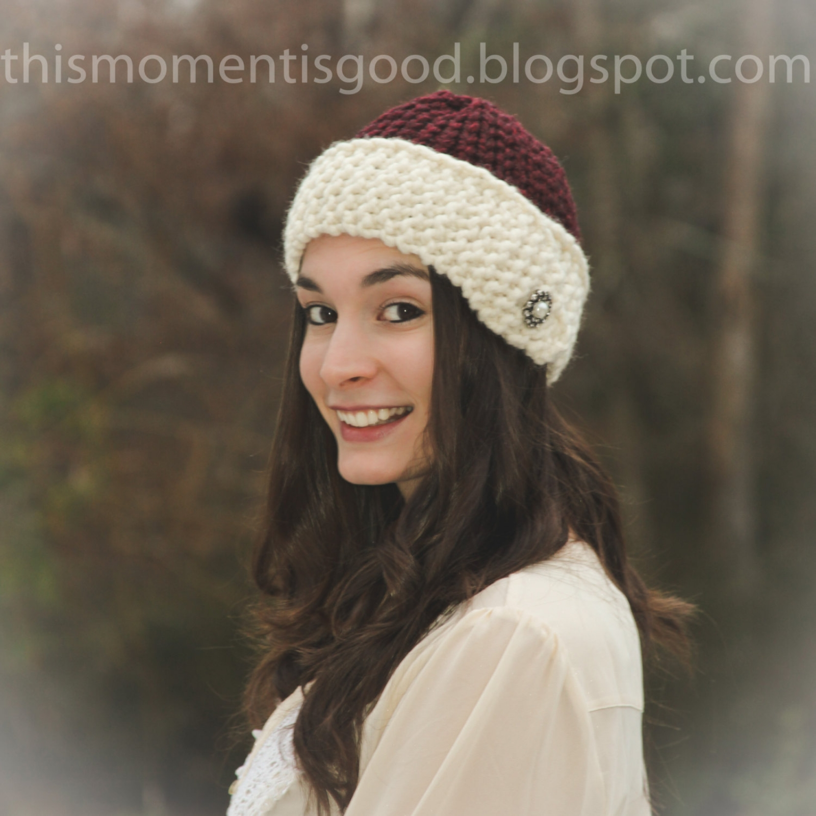 Loom Knit Cloche Hat PATTERN. 1920\'s Style Loom Knit Hat Pattern ...