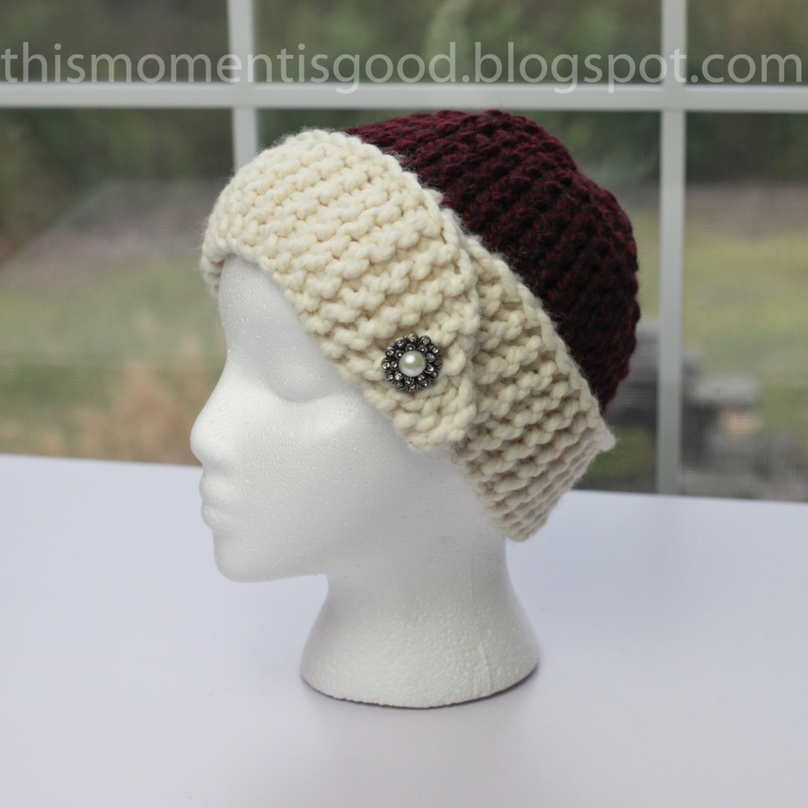 Cloche Hat Pattern Knitting : Loom Knit Cloche Hat PATTERN. 1920s Style Loom Knit Hat Pattern. PATTERN...