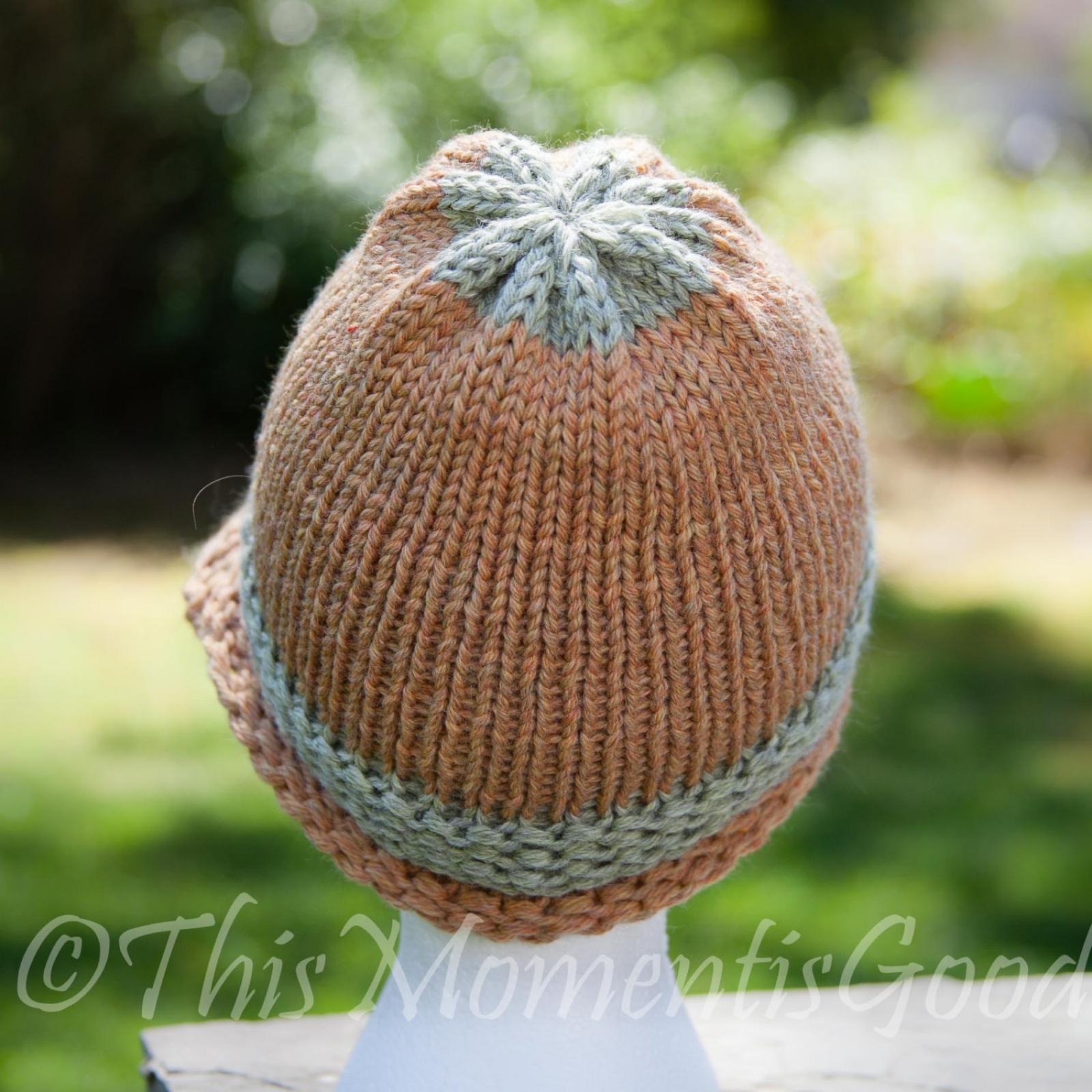 Loom Knit Folded Brim Cloche Hat PATTERN. Vintage Style Hat PATTERN.PDF is av...