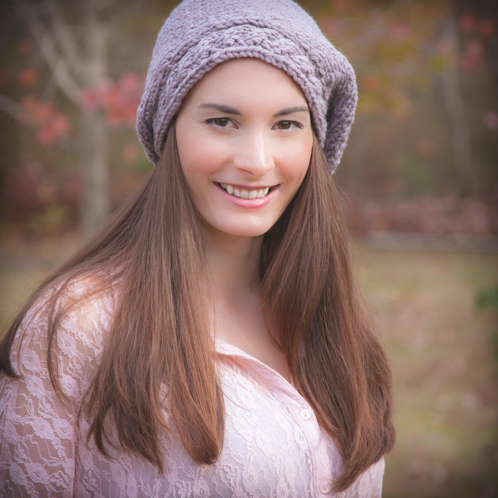 Loom Knit Cable Beret Pattern Ladies Hat Pdf Pattern Download