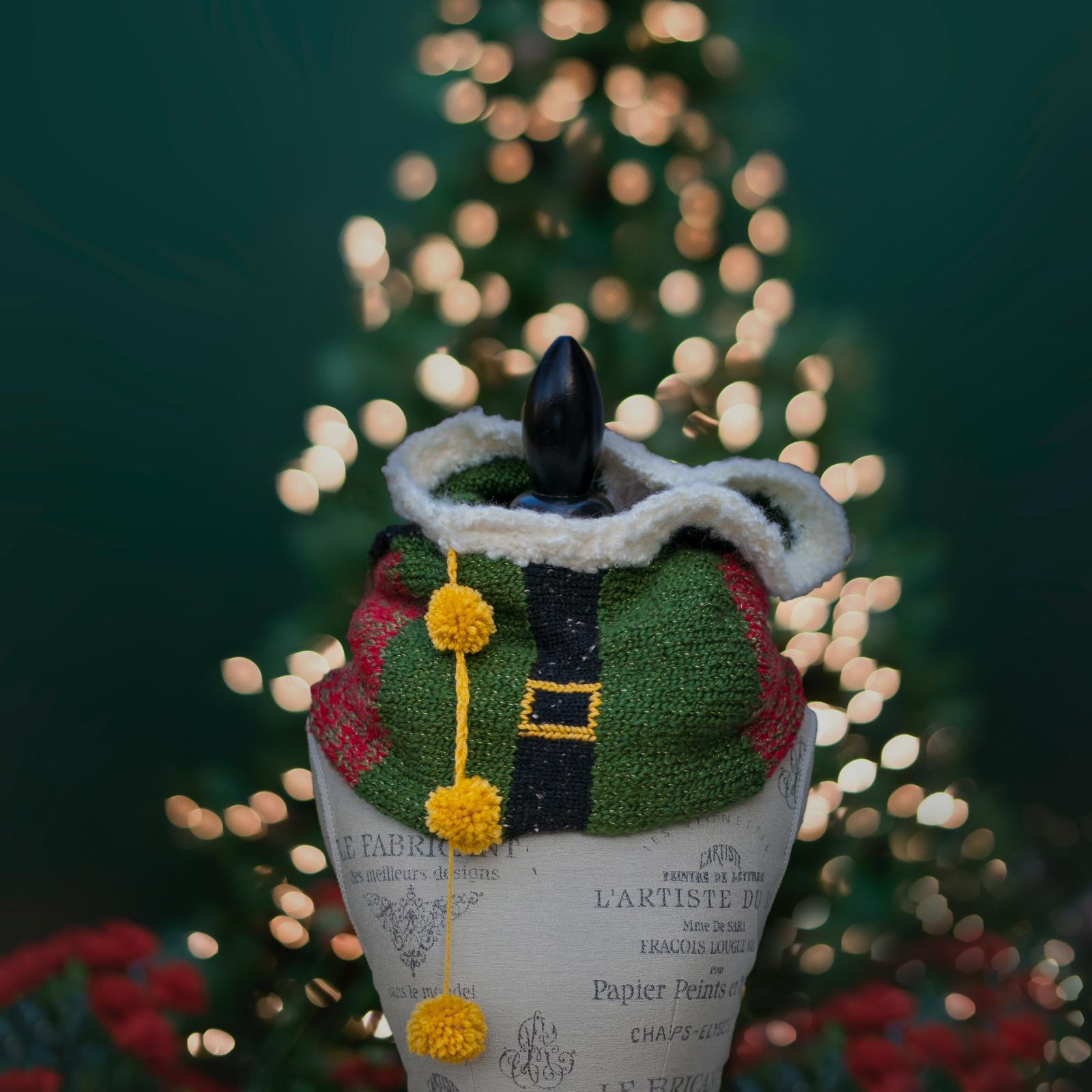 Loom Knit Elf Hood Pdf Pattern Quirky Christmas Hooded
