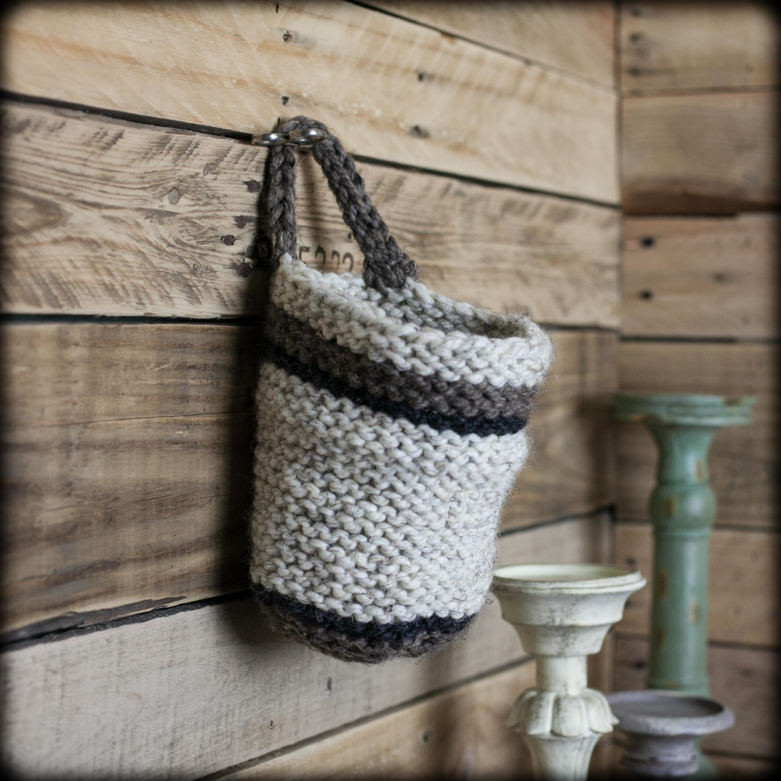 Knitting Basket Yarn : Loom knit basket patterns included this