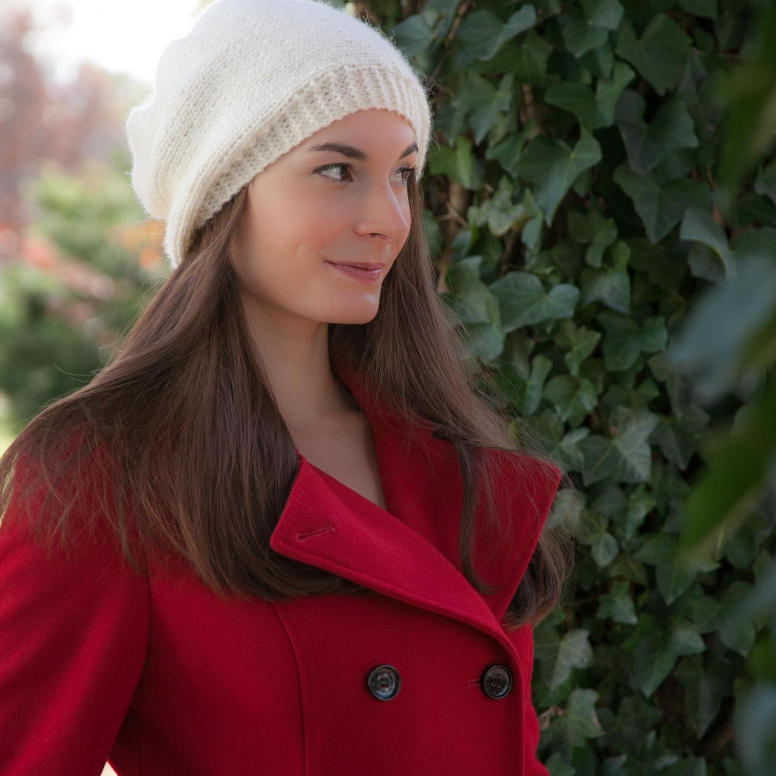 Loom Knit Beret Pattern Winter Trendy Hat Tam 3 Sizes This