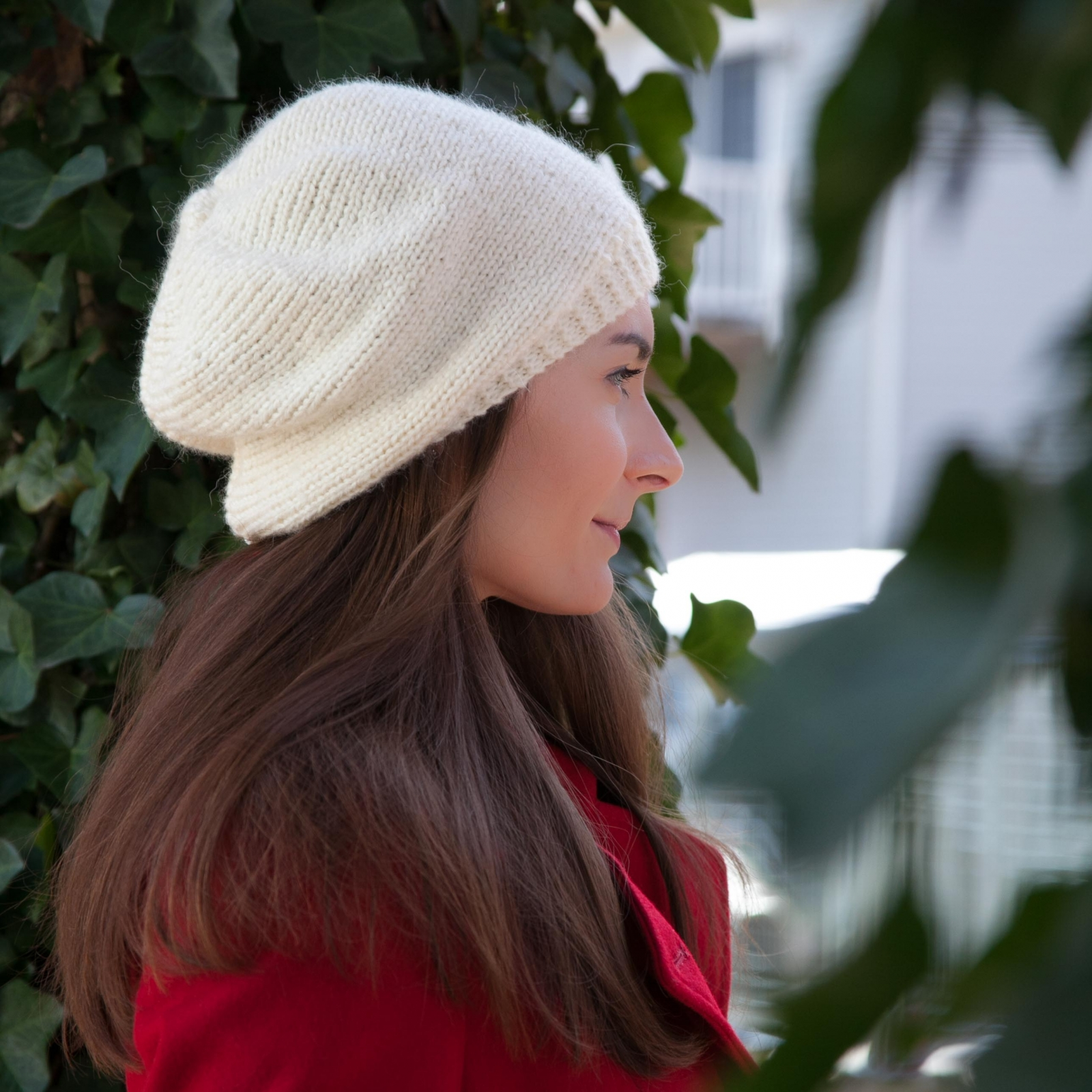 Loom Knit Beret Pattern Winter Trendy Hat Tam 3 Sizes