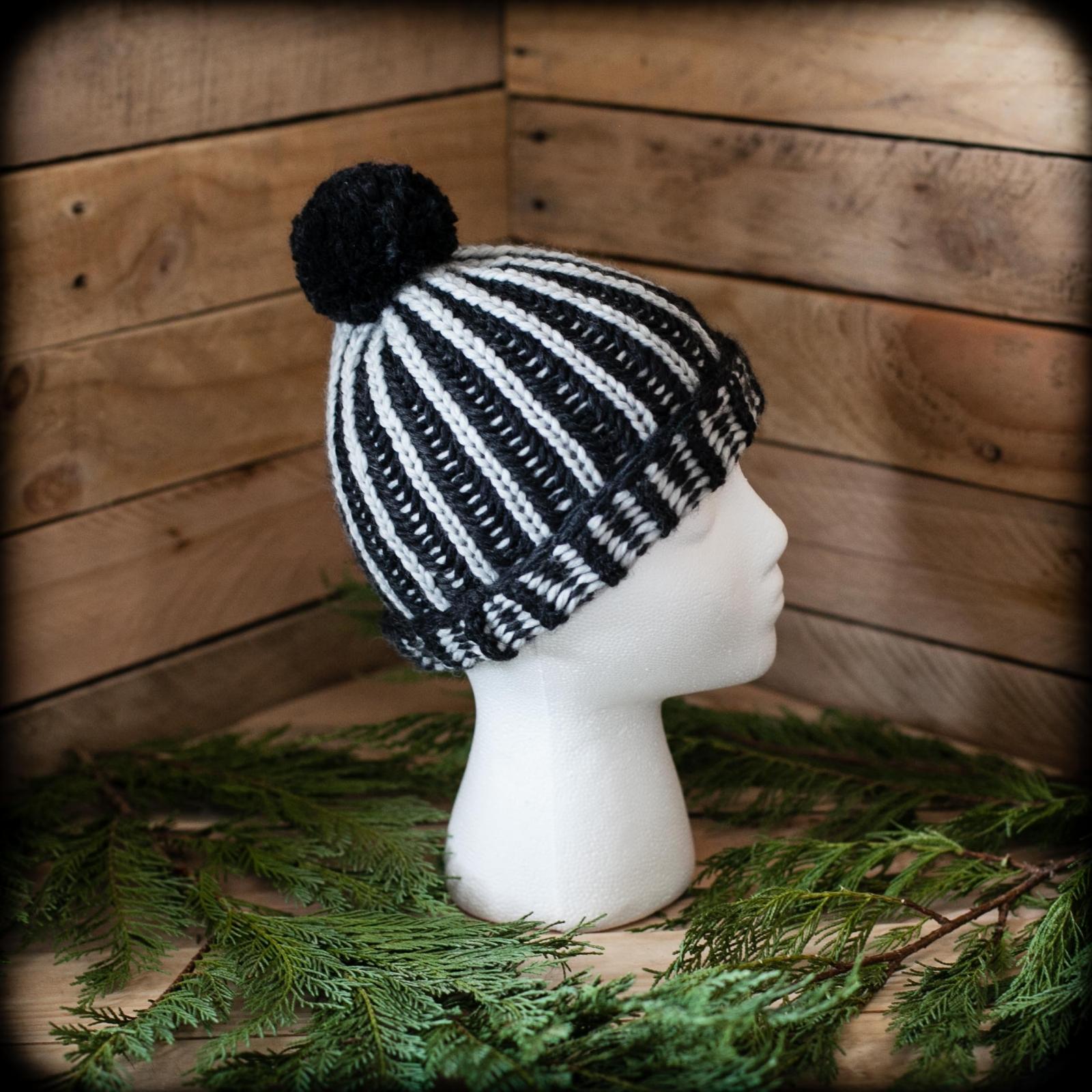 Loom Knit Brioche Hat Pattern Ski Cap Slouchy Hat