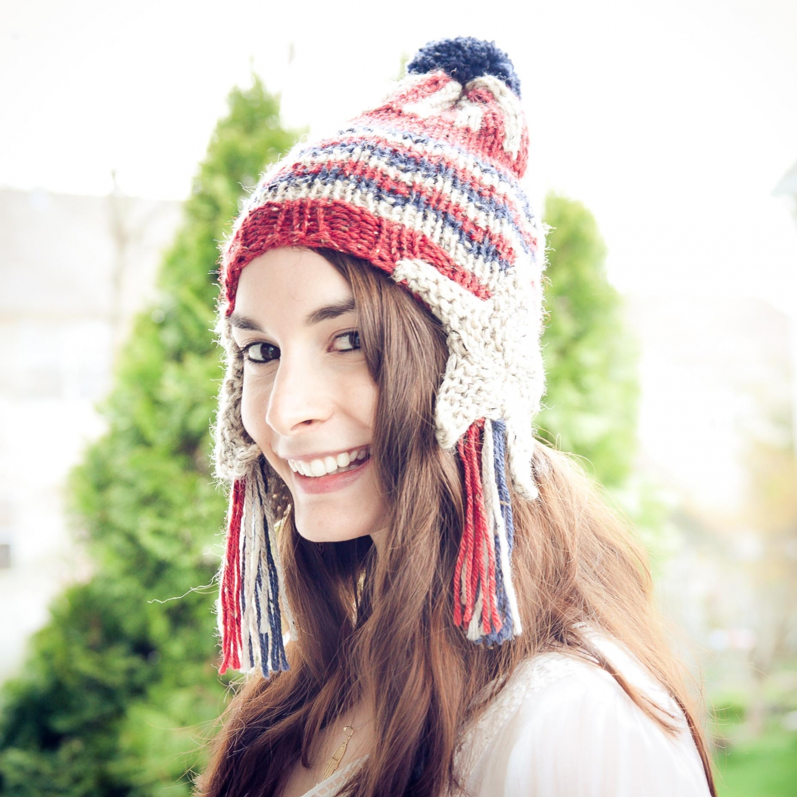 Loom Knit Patriotic Earflap Hat Pattern | This Moment is Good