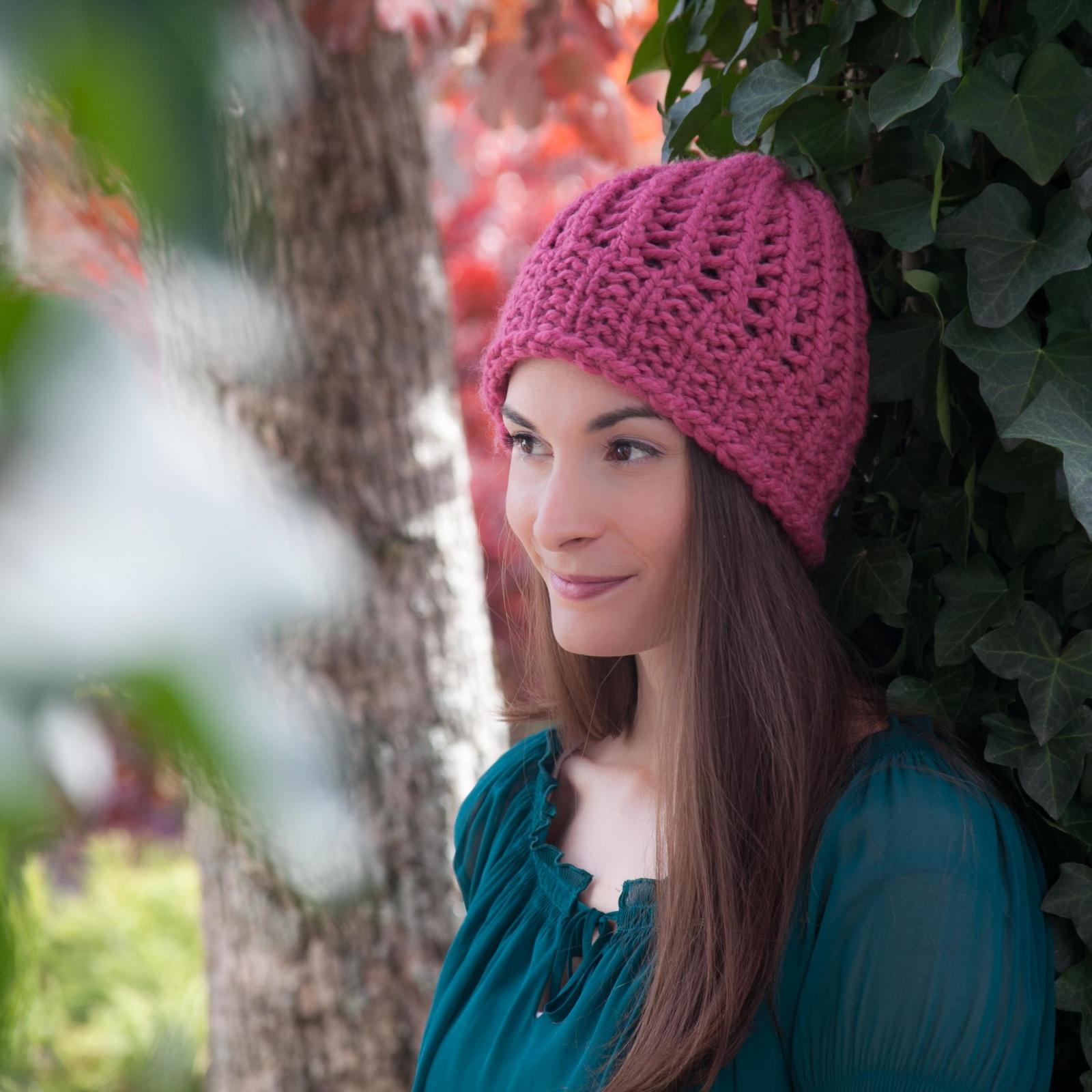 747a9c81426 Loom Knit Eyelet Lace Hat Pattern
