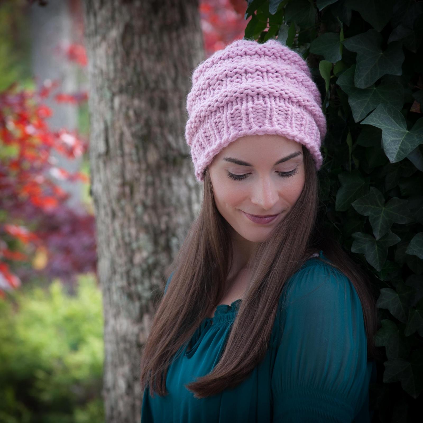 Loom knit hat pattern slouch hat beanie textured bulky chunky loom knit hat pattern slouch hat beanie textured bulky chunky knit bankloansurffo Gallery