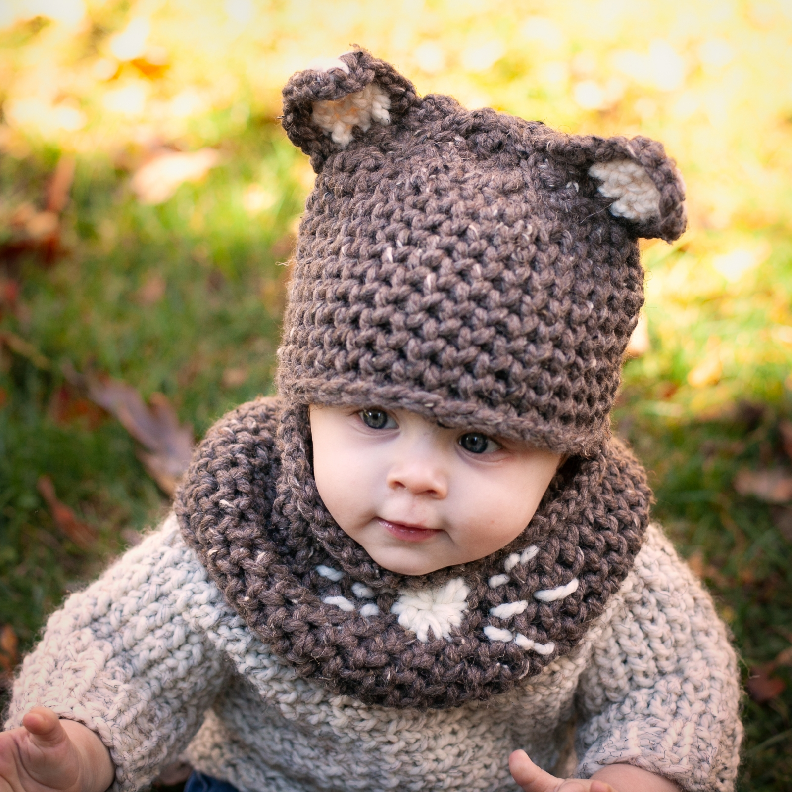 Loom Knit Mouse Hat And Cowl Set PDF PATTERN. Sized For ...