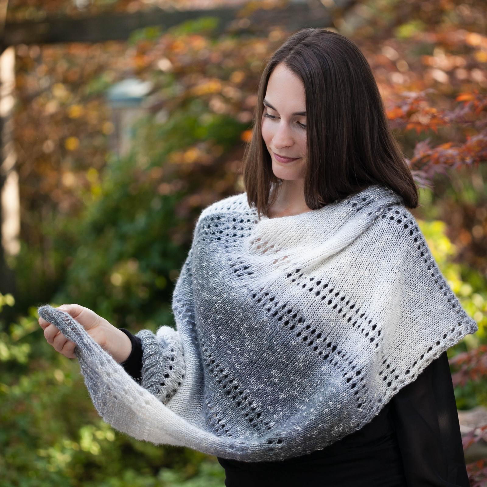 Loom Knit Ponchocape Pattern By This Moment Is Good This Moment