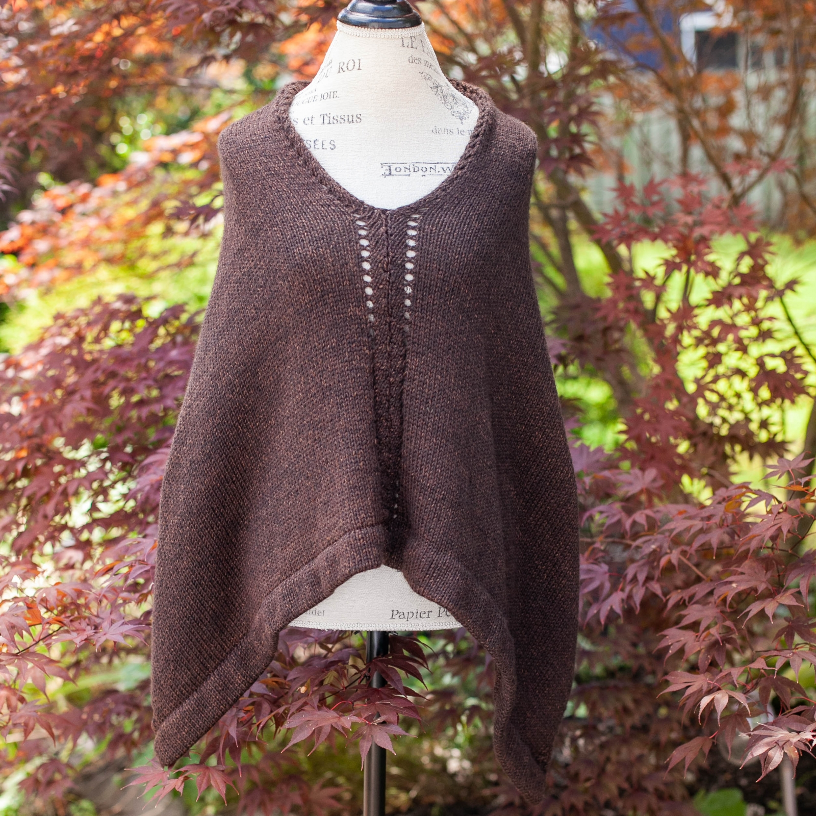 Loom knit poncho/cape pattern by This Moment is Good | This Moment ...