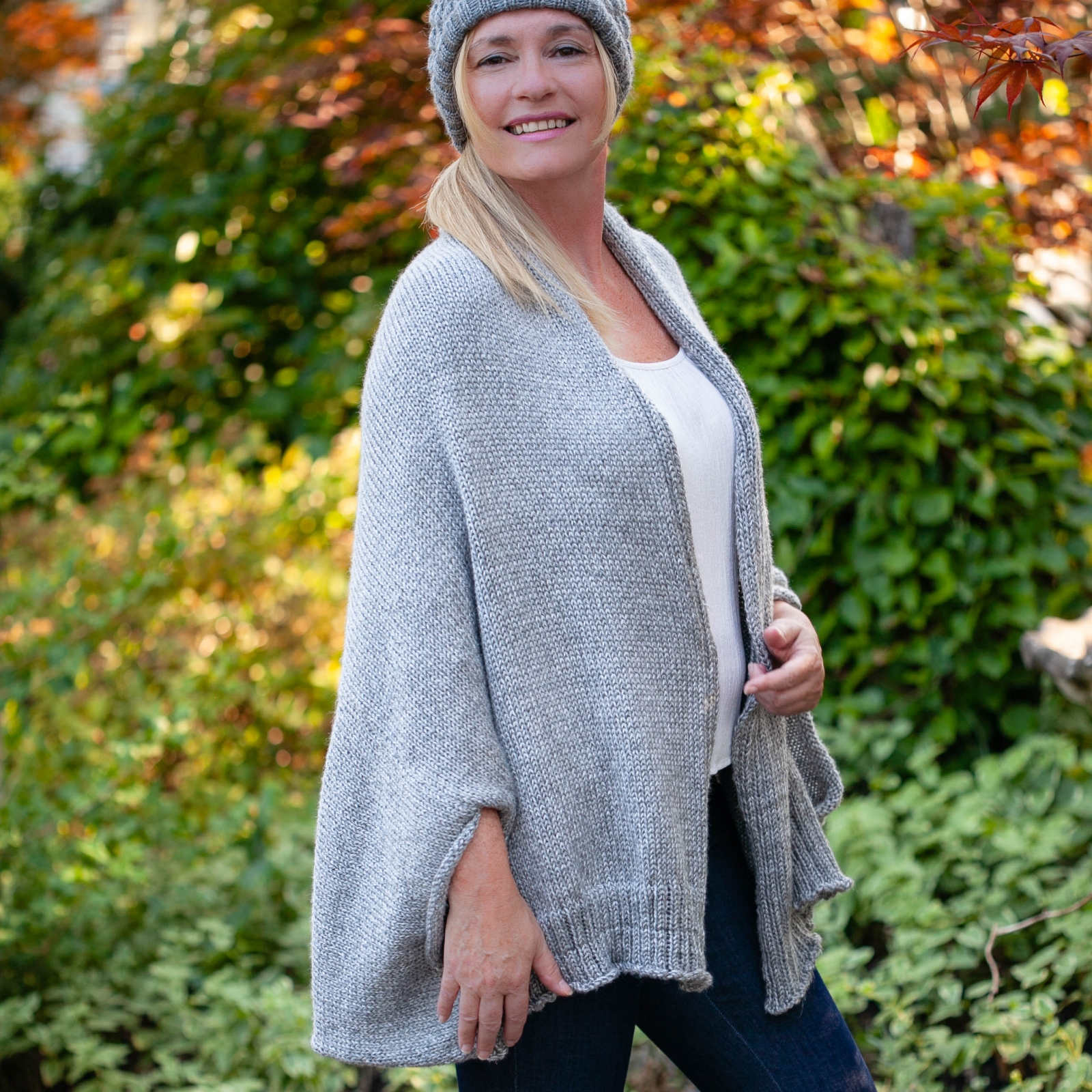 Loom Knit Shrug Style Cardigan Pattern  Oversized fit, Warm Winter Sweater   PDF PATTERN Download
