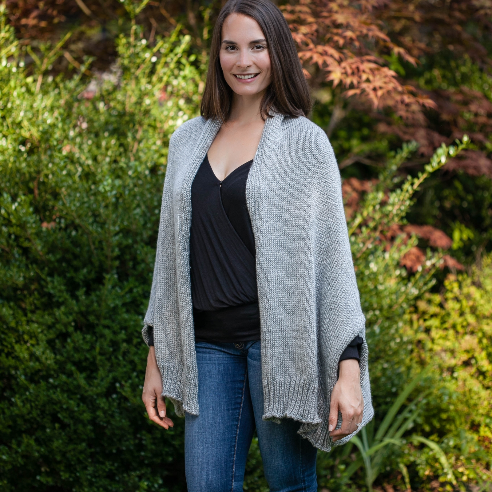Loom Knit Shrug Style Cardigan Pattern. Oversized fit. PDF ...