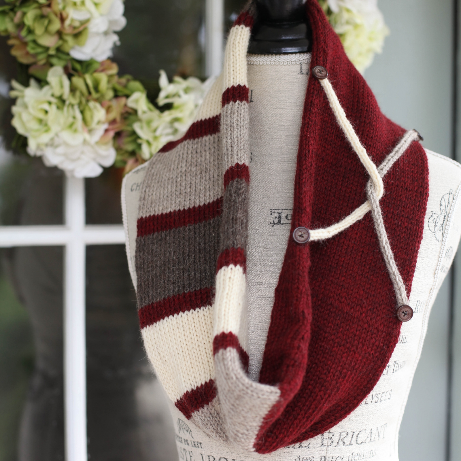 Loom Knit Infinity Scarf Pattern, Tube Scarf, Infinity Cowl. | This ...
