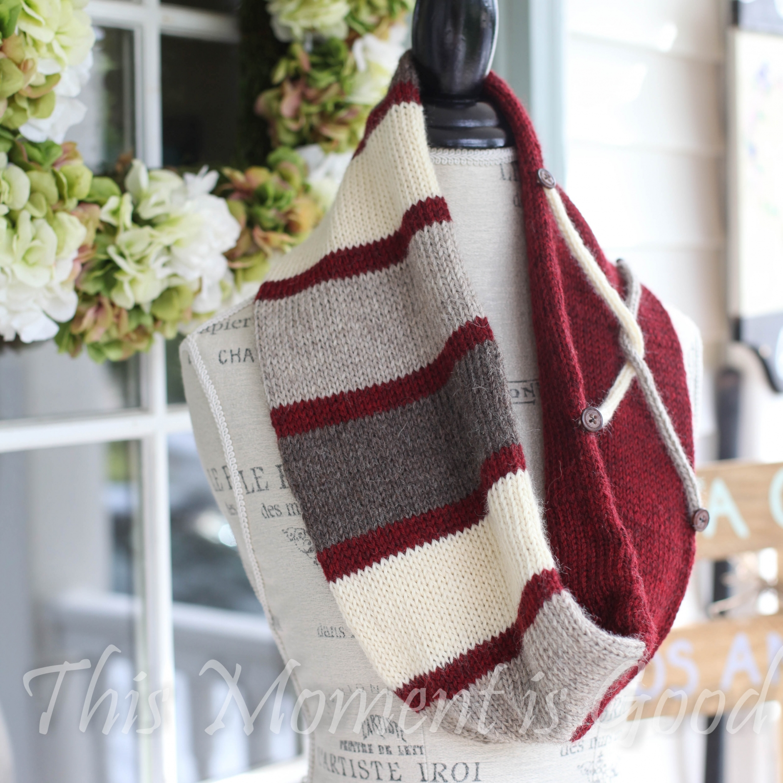 Loom Knit Infinity Scarf Pattern, Tube Scarf, Infinity Cowl. This Moment is...