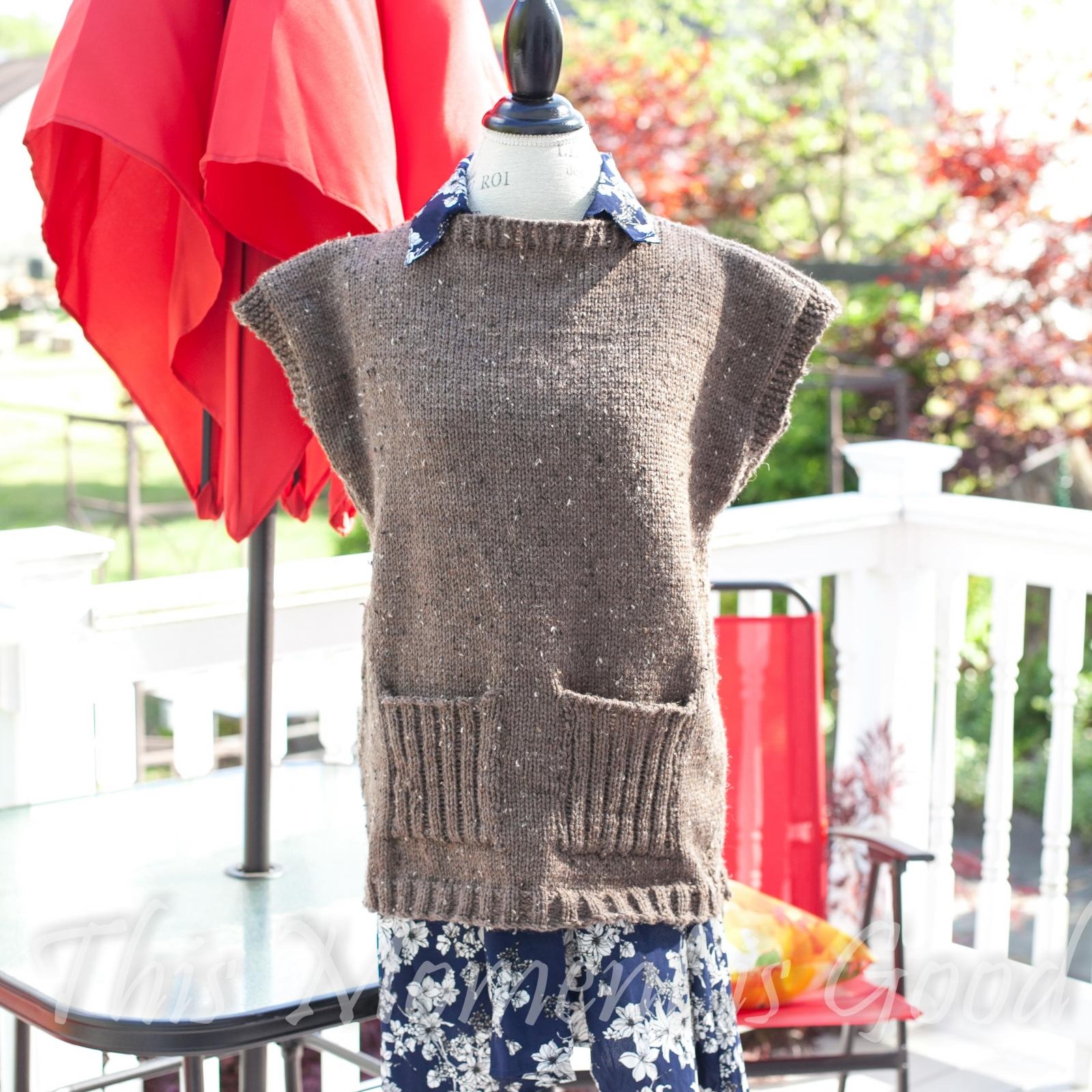 Loom Knit Tunic Sweater Top Poncho Pdf Pattern 5 Sizes This