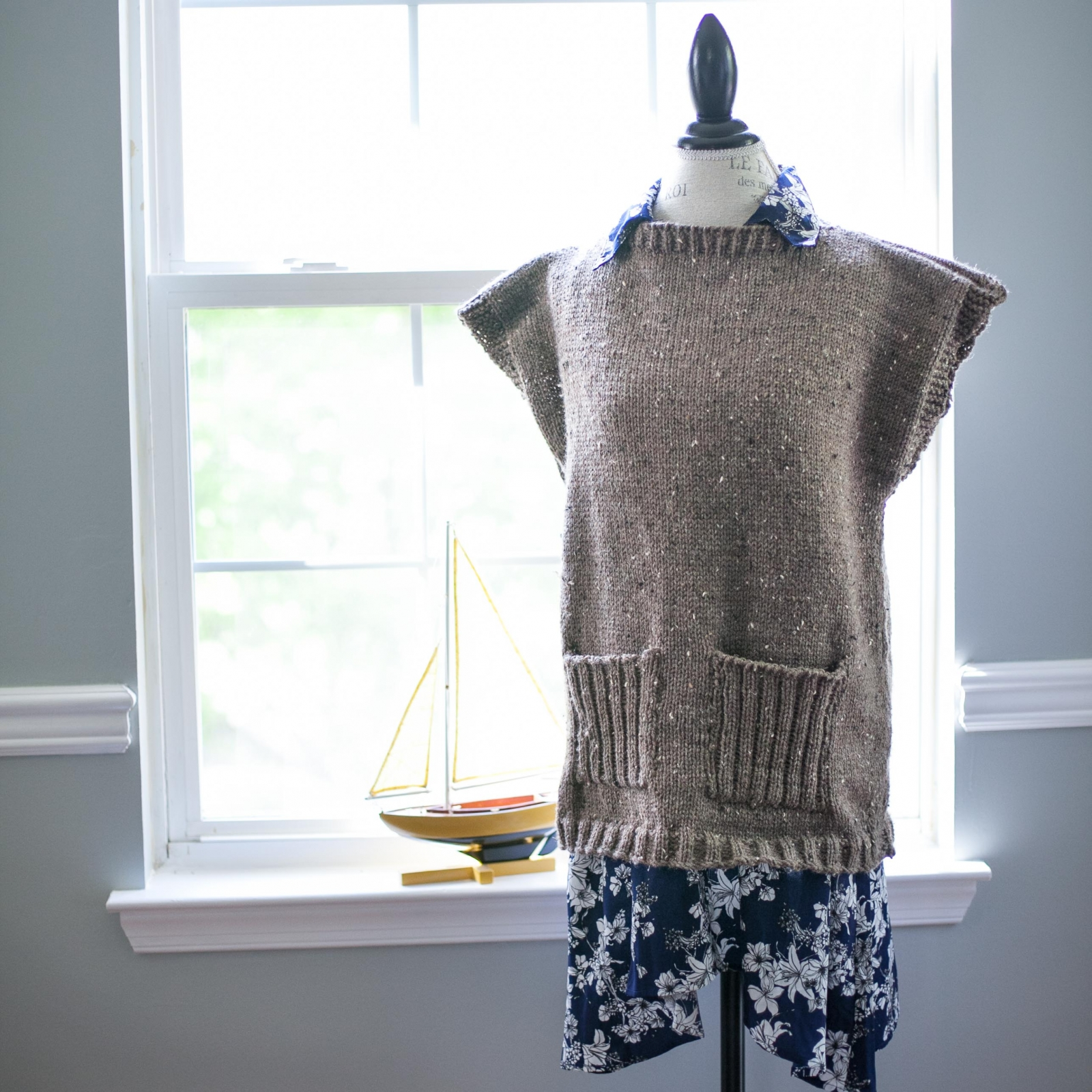 Loom Knit Tunic Sweater Top Poncho Pdf Pattern 5 Sizes